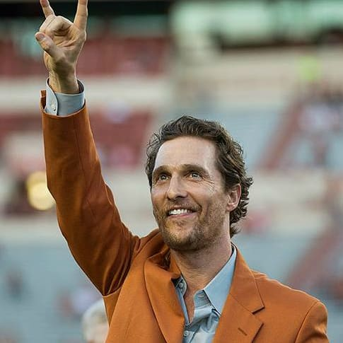 Matthew McConaughey University of Texas Austin longhorn hook em
