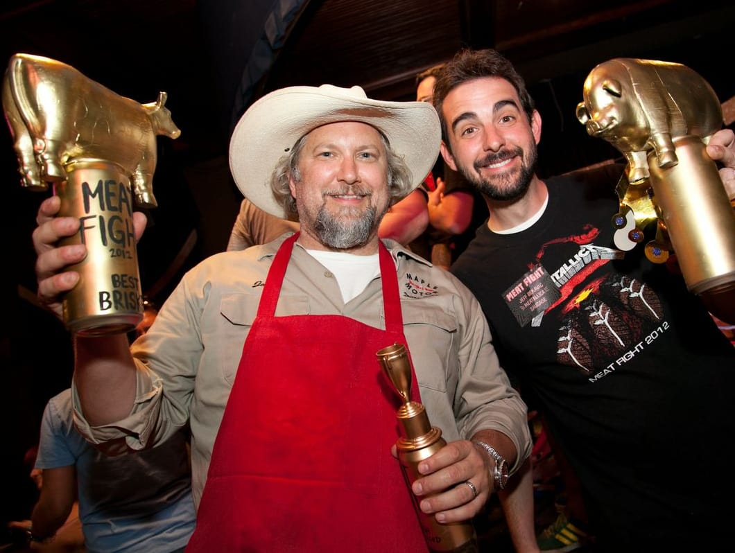 Jack Perkins and Jeff Bekavac at Meat Fight in Dallas