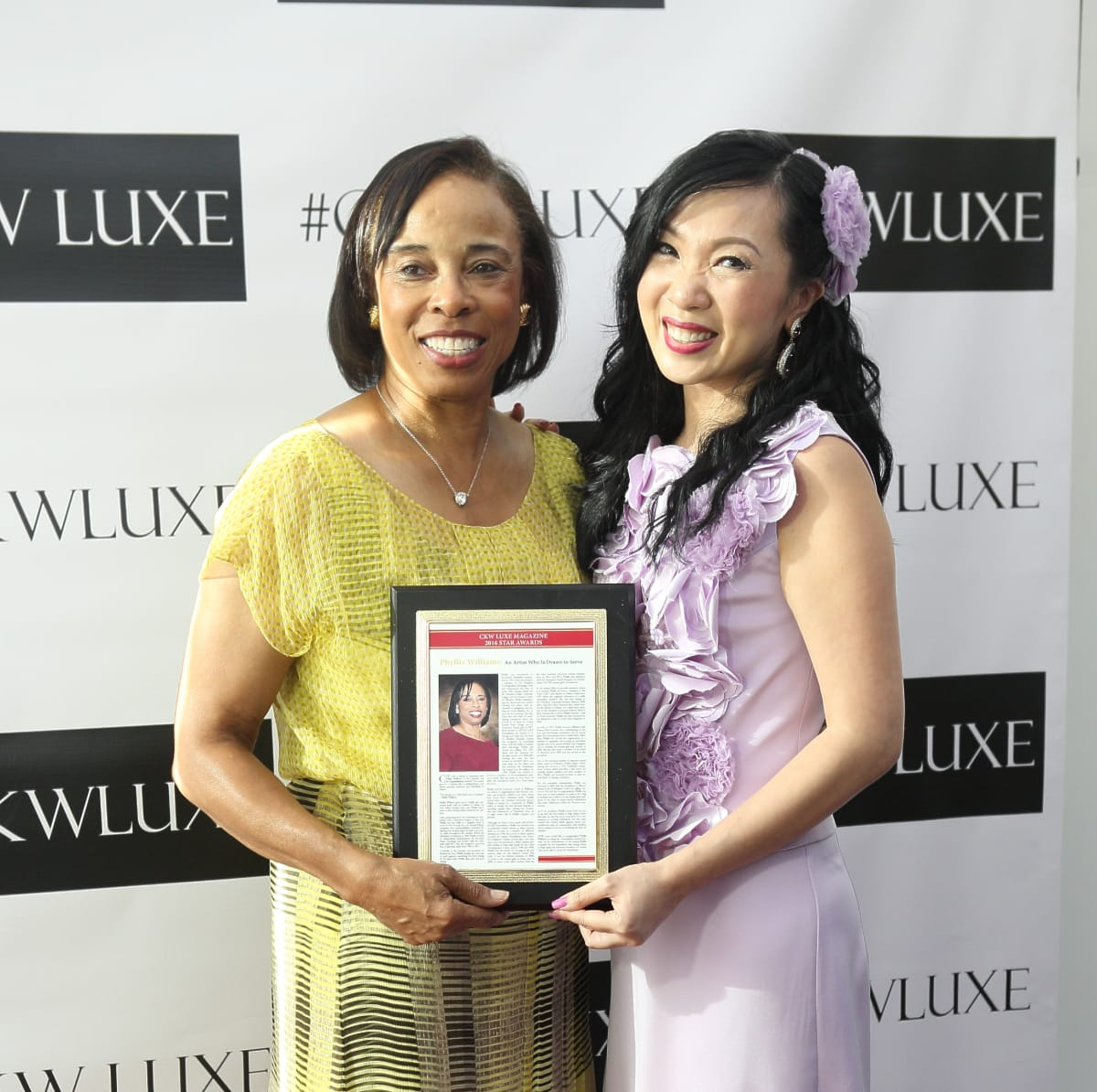 CKW Luxe Star Awards 6/16 Phyllis Williams, Connie Kwan-Wong