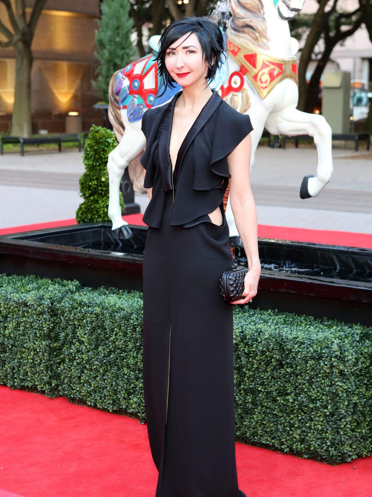 Houston, Opera Ball Gowns, April 2016,  Carrie Brandsberg-Dahl in Yves Saint Laurent
