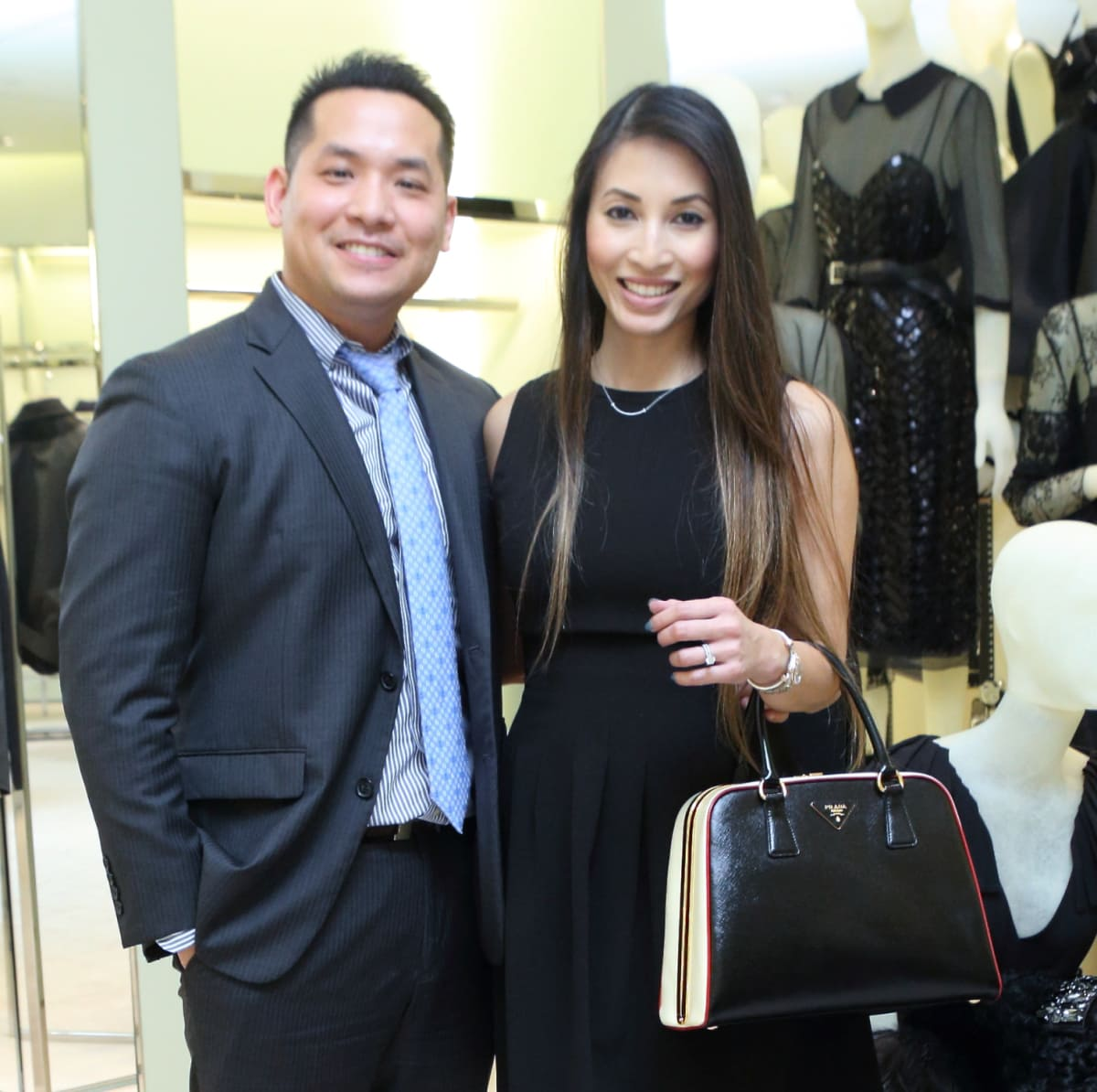 Ryan Nguyen, Vy Le at APAHA kickoff party at Prada