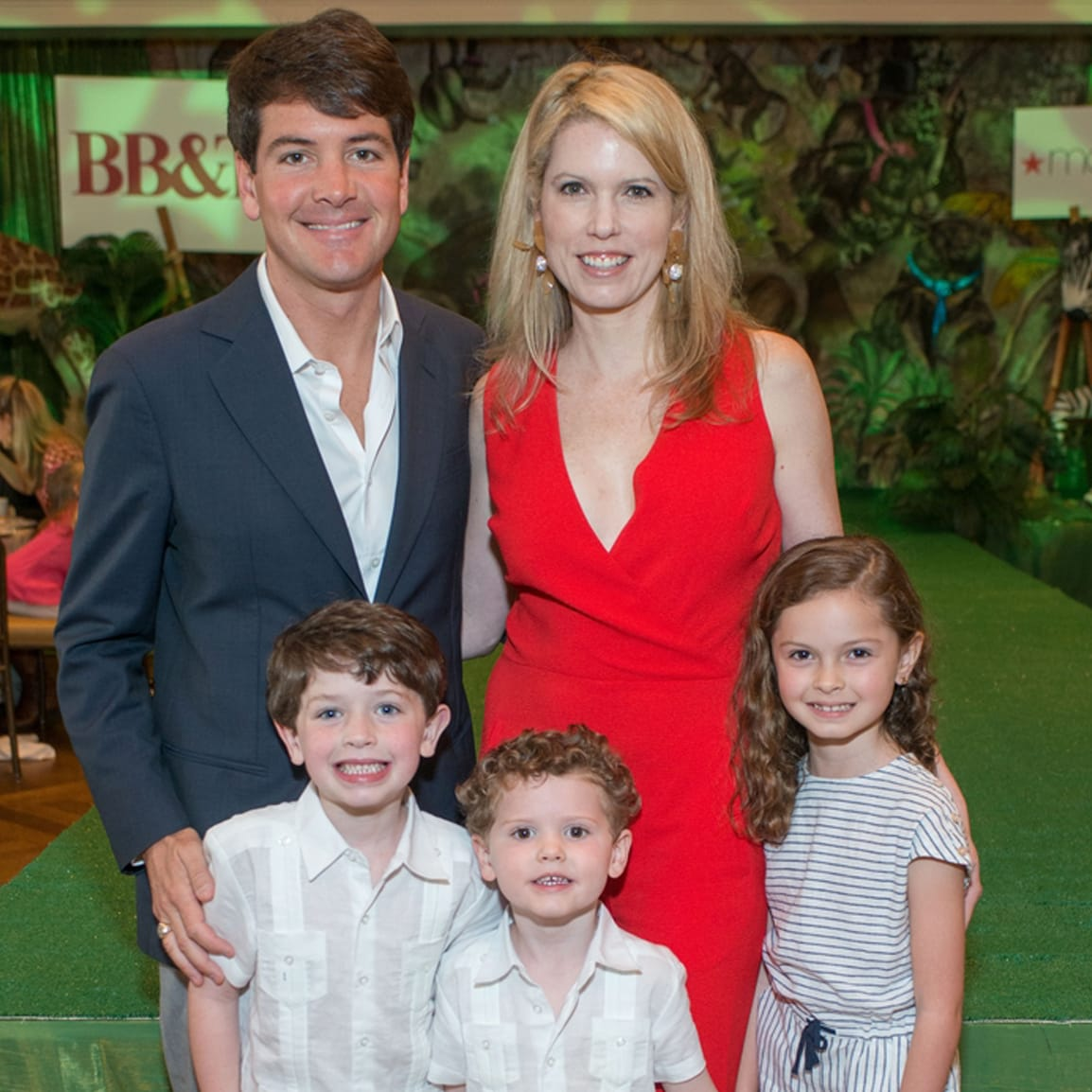 Houston Symphony Children's Fashion Show, March 2016, Bill Toomey, Courtney Toomey, Billy, Hayes, Callie