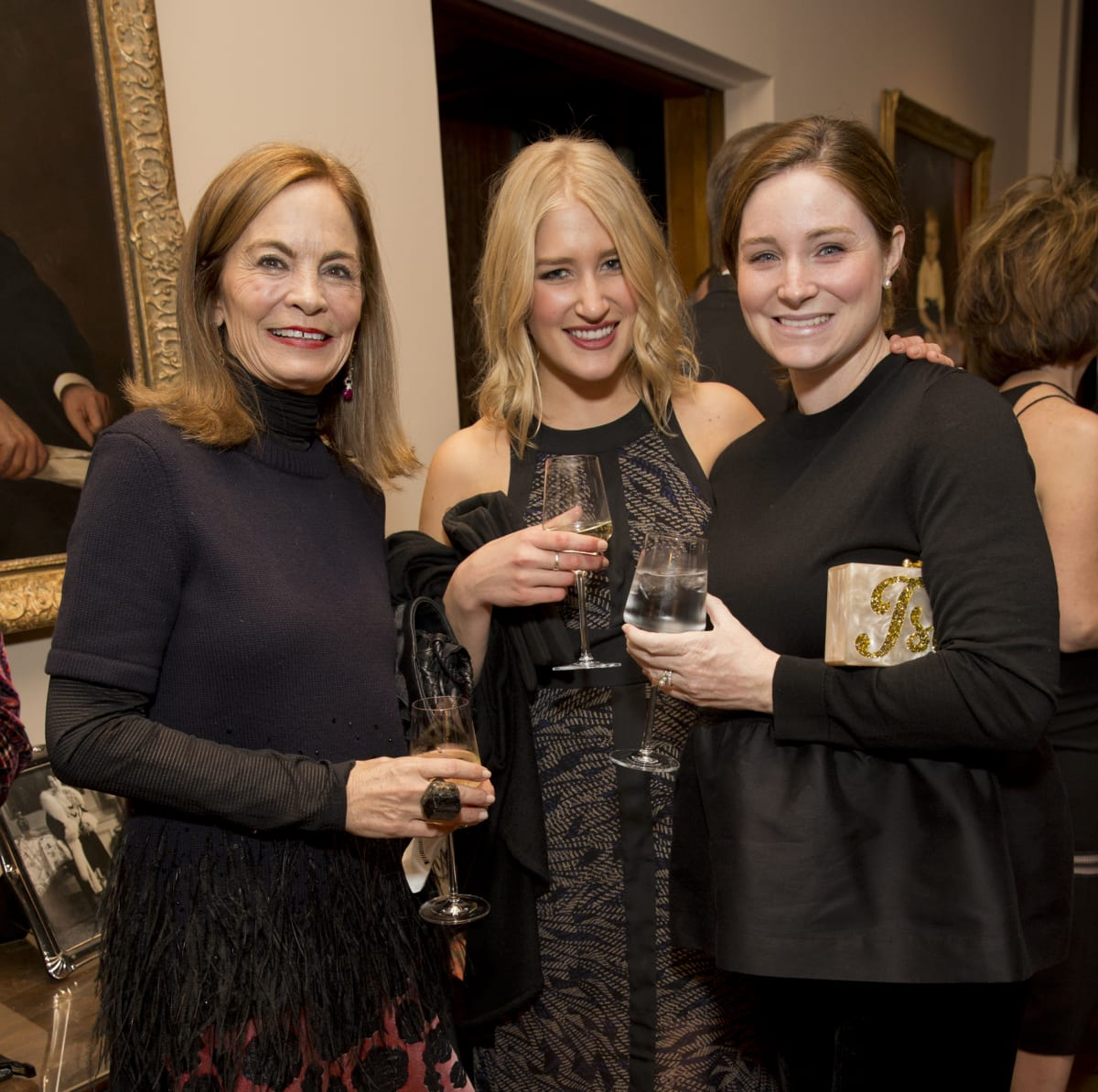 Rienzi society dinner, Feb. 2016, Cindy Thorp; Ann Wolpert; Isla Jornayvaz