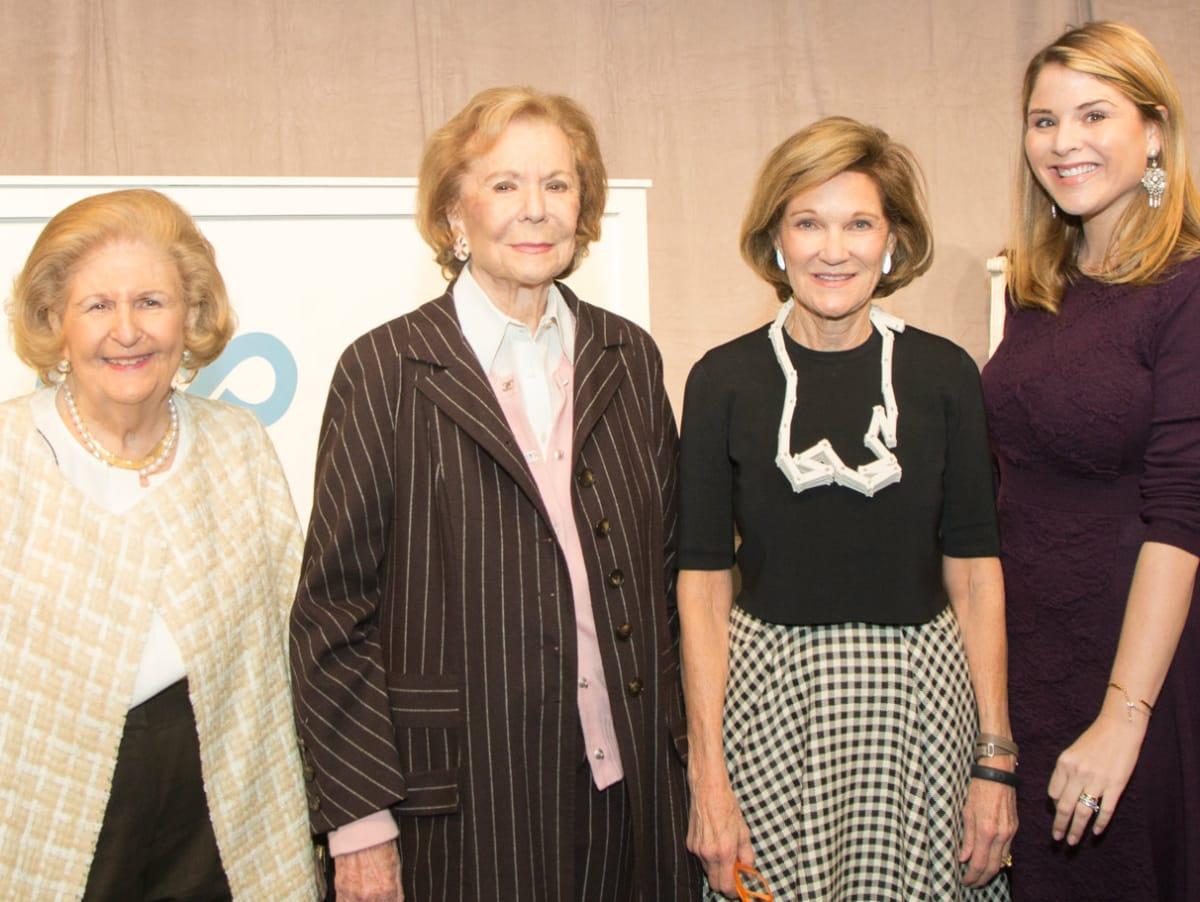 Lindalyn Adams, Ruth Altshuler, Deedie Rose, Jenna Bush Hager