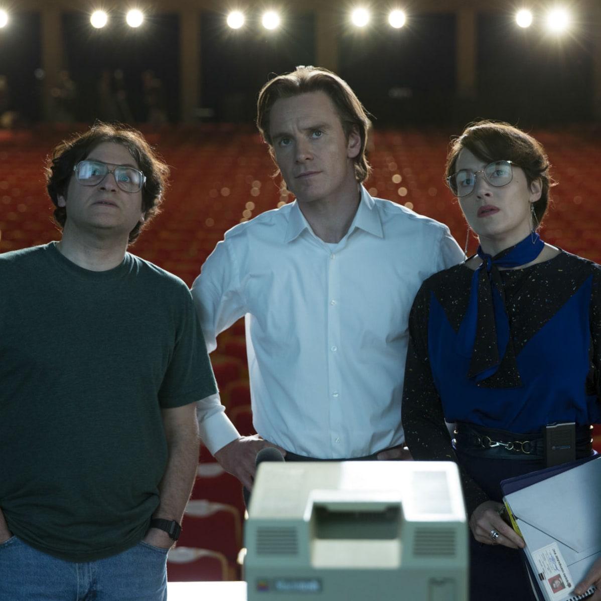 Michael Stuhlbarg, Michael Fassbender, and Kate Winslet in Steve Jobs