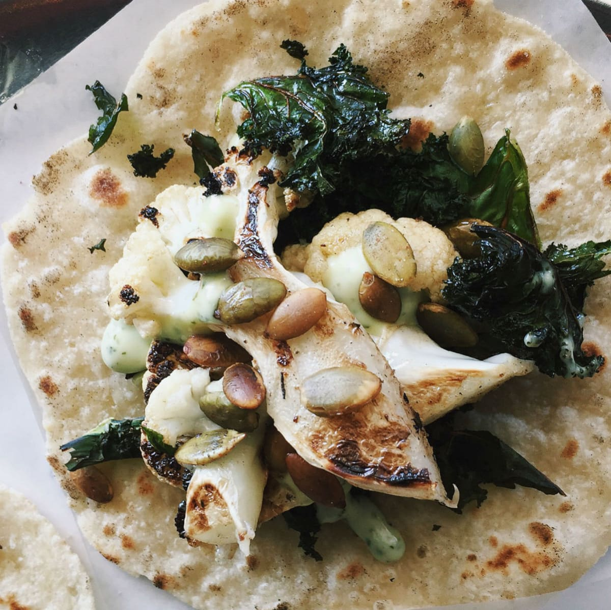 Cauliflower taco, Resident Taqueria
