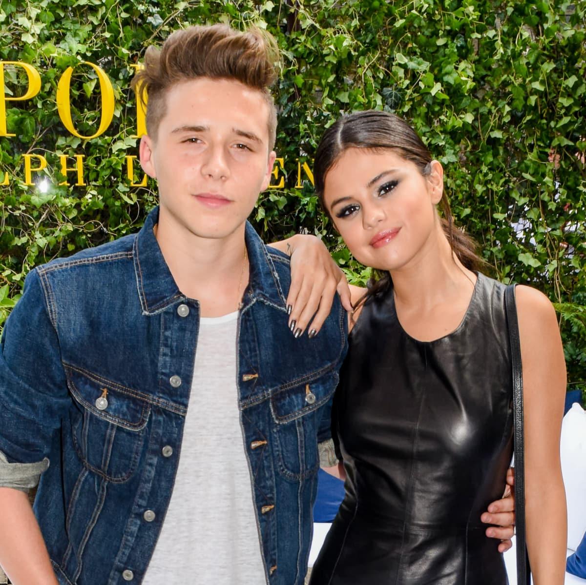 Brooklyn Beckham and Selena Gomez at Polo Ralph Lauren presentation at New York Fashion Week
