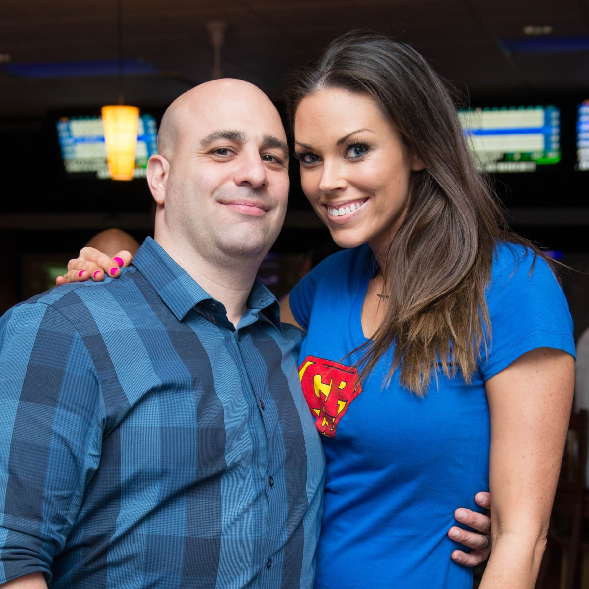 Chester Pitts bowling event Stan & Amanda Abiassi