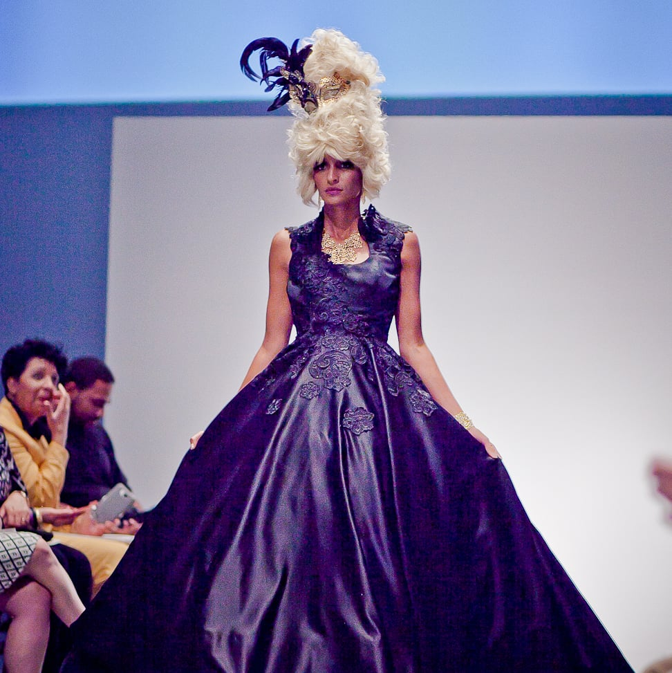Houston, Fashion Fusion, June 2015, black gown by Christian Lee first place