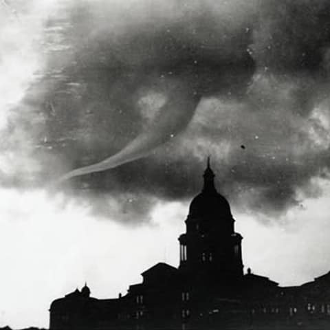 Texas State Capitol Austin tornado May 4 1922