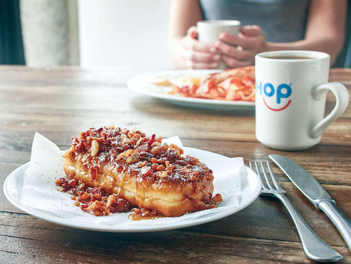 Houston, Bacon & Maple French Toasted Donut at IHop, August 2017, Bacon & Maple French Toasted Donut