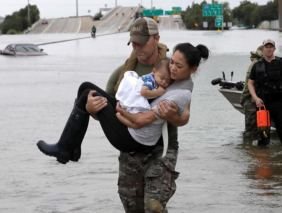 Houston, Hurricane Harvey, first responders, August 2017, Houston SWAT Daryl Hudeck