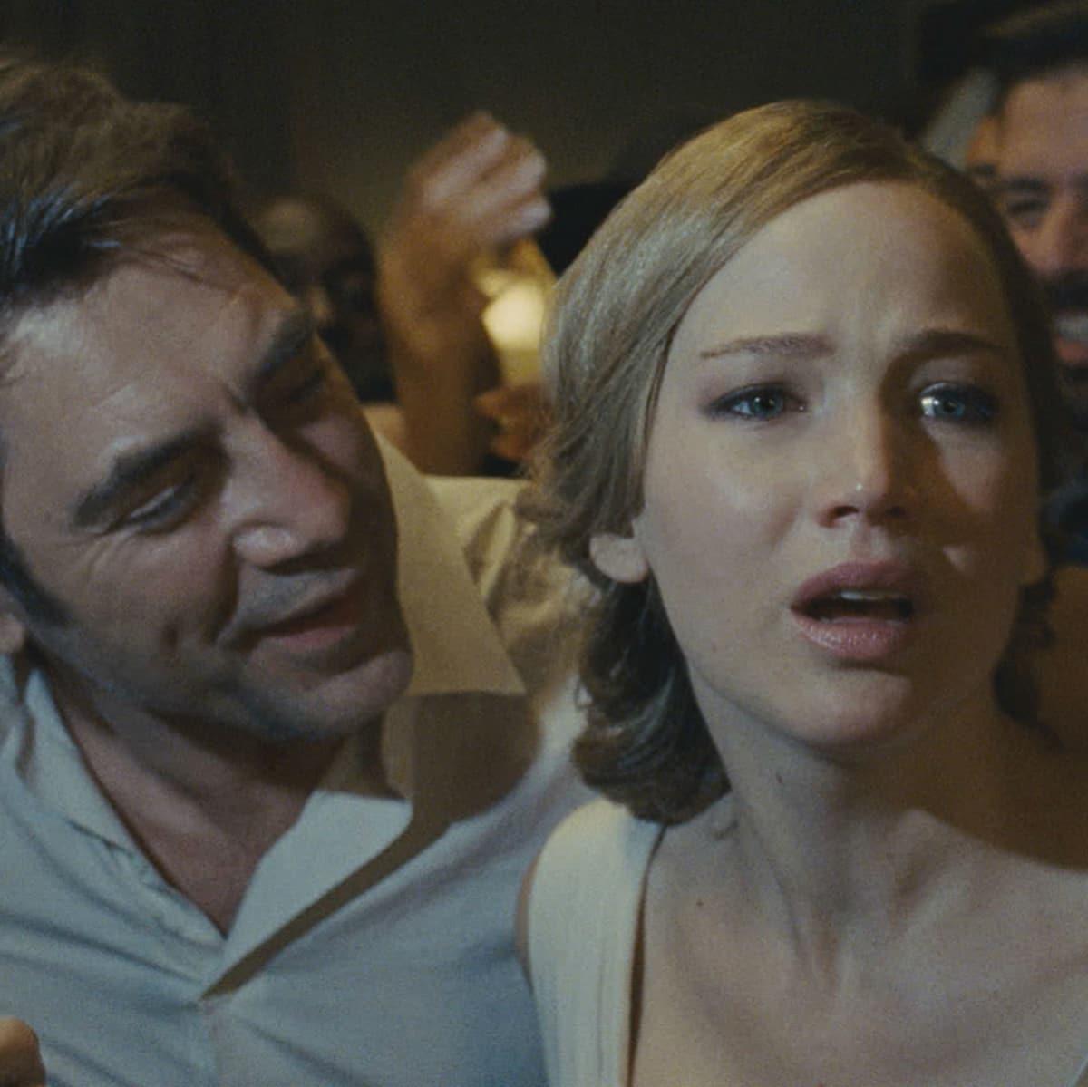 Javier Bardem and Jennifer Lawrence in mother!