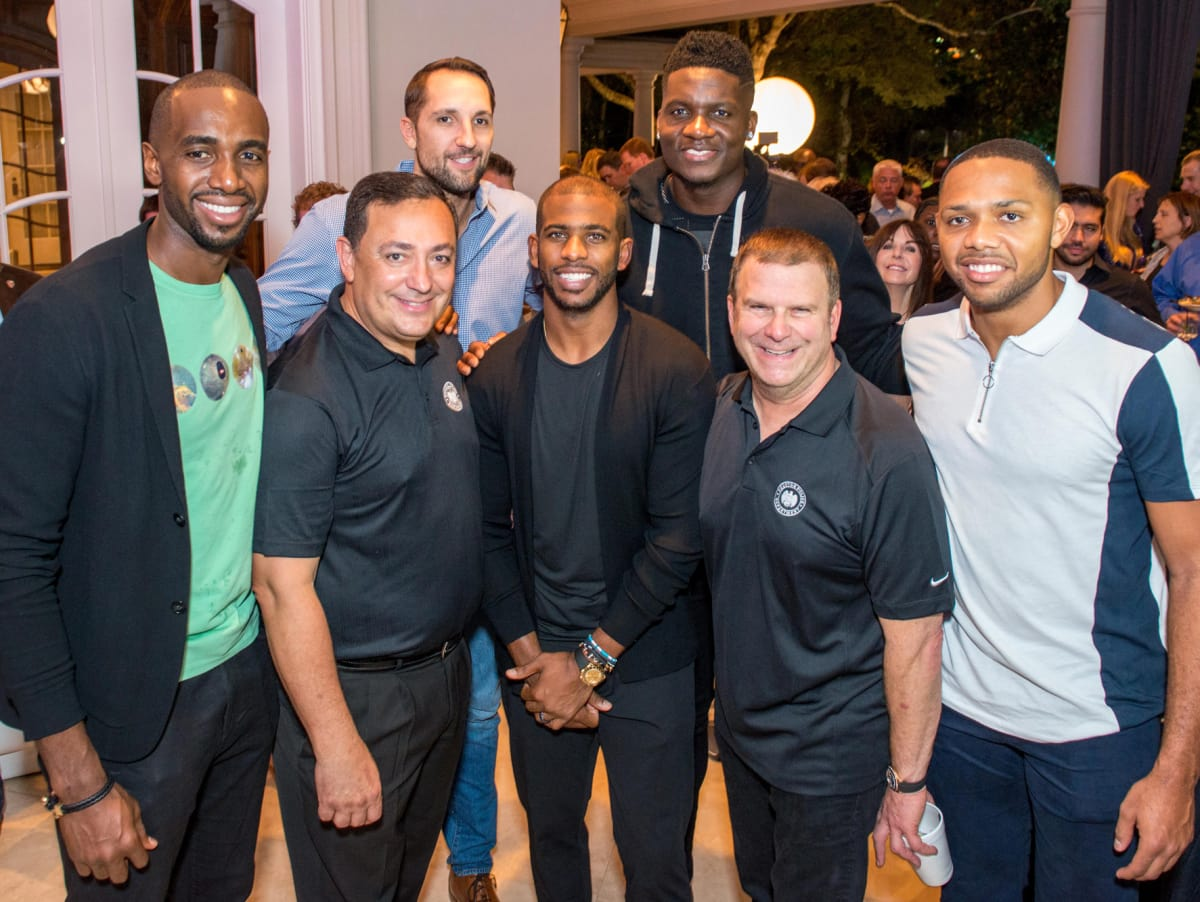 Houston, True Blue Gala, November 2017, Luc Mbah A Moute, Art Acevedo, Ryan Anderson, Chris Paul, Clint Capela, Tilman Fertitta, Eric Gordon