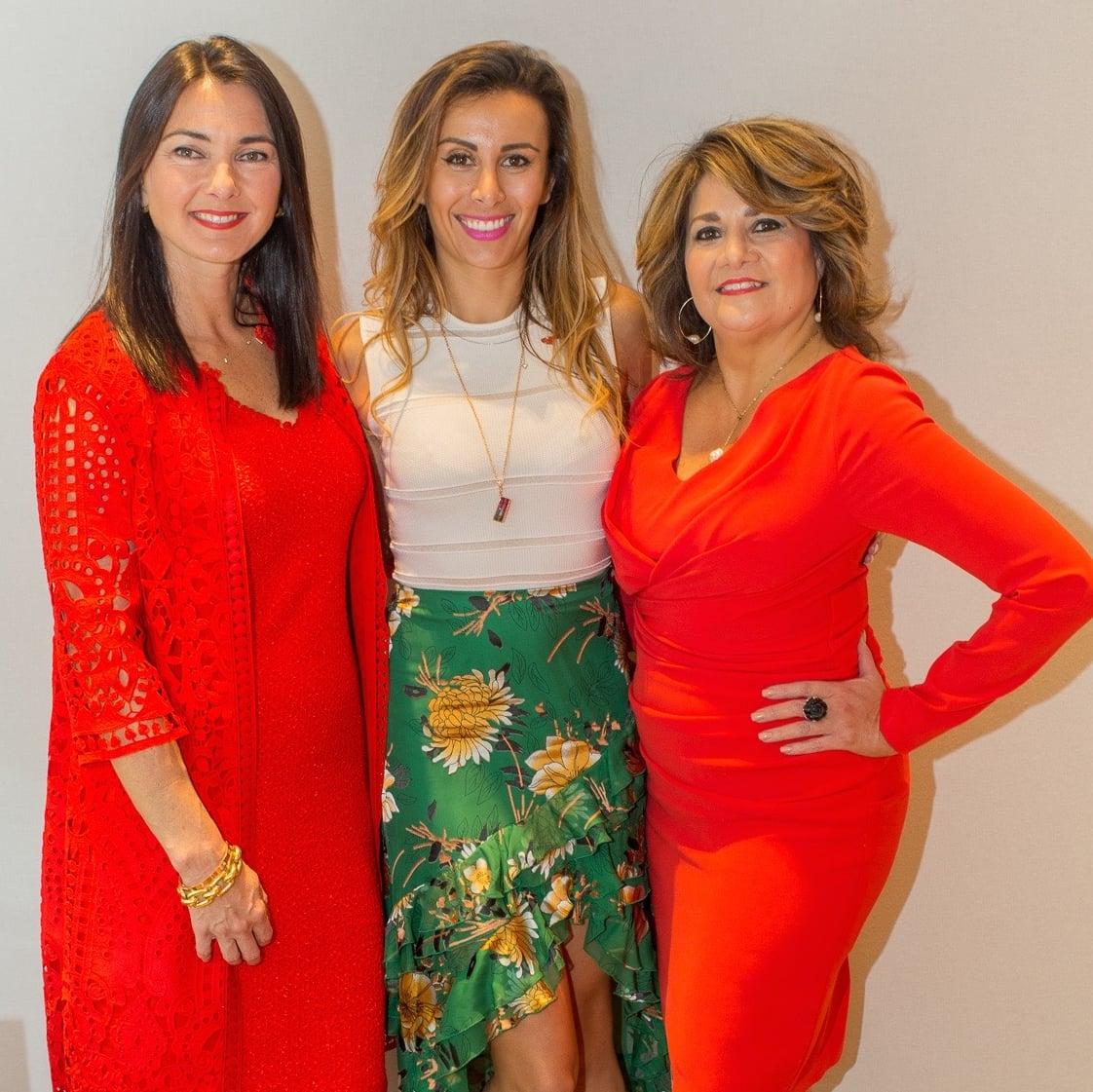 Dawn Cornell, Jewelry Designer Katherine Jetter, Vincette Vidaurri at Circle of Red
