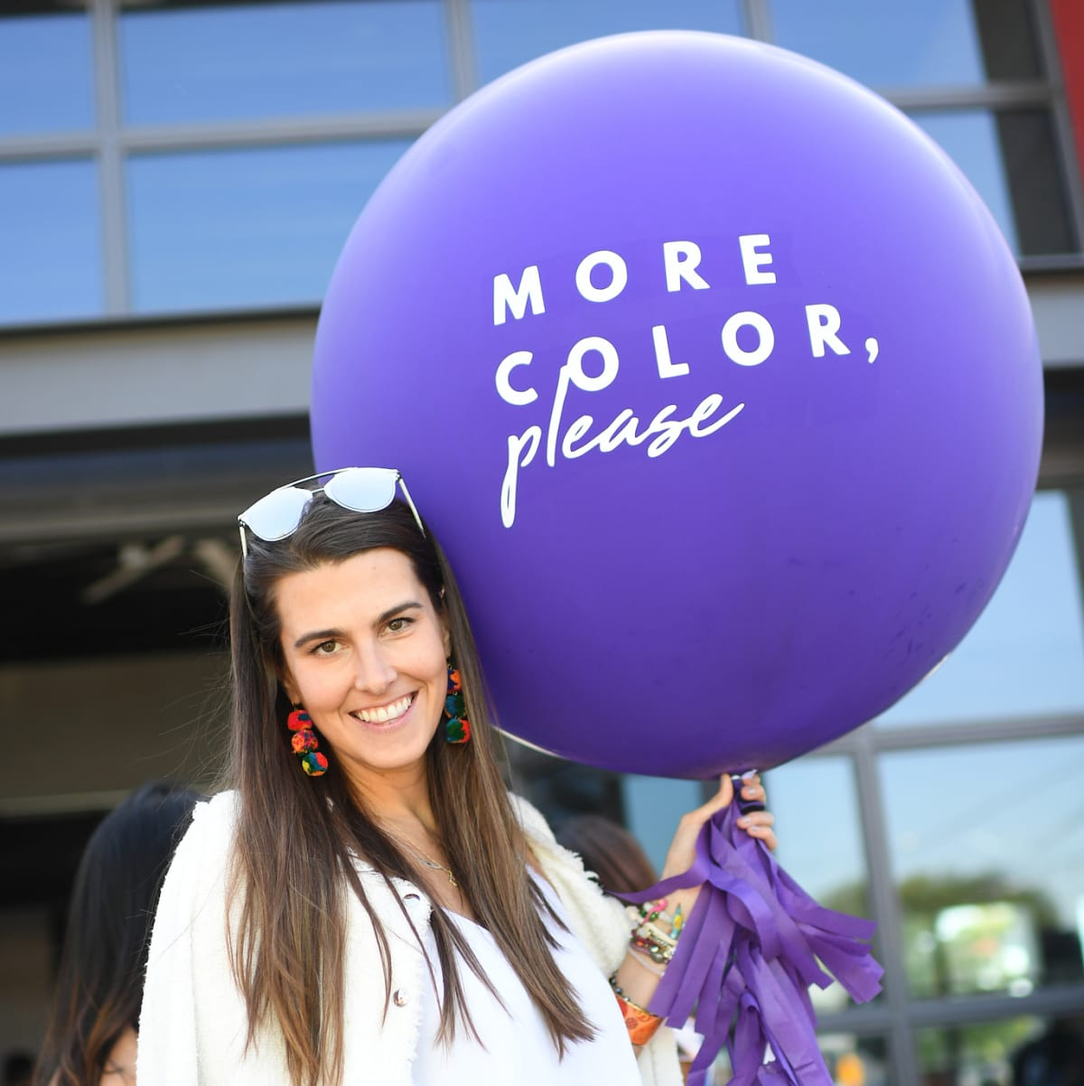 Kathryn Swain at More Color Please launch