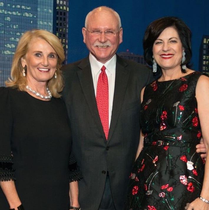 Denise Monteleone, Michael and Ellie Francisco at MD Anderson Legends dinner