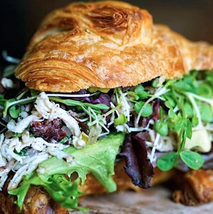 San Antonio, CommonWealth Coffee at Hemisfair, January 2018, Tarragon Salad Croissant