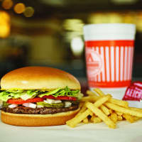 Whataburger hamburger burger french fries