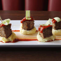 The League Kitchen and Tavern meatloaf bites appetizer