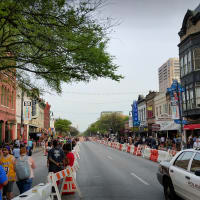Sixth Street downtown Austin SXSW police security safety barriers March 2016