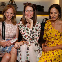 Susan Sarofim, Plum Sykes, Allison Sarofim at Burberry book party
