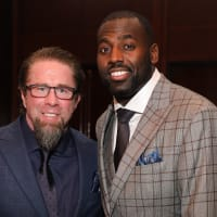 Jeff Bagwell and Whitney Mercilus at Festari Gala