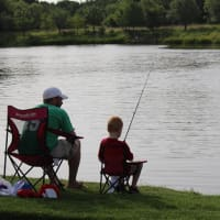 Fishing, Keller Town Hall Pond, Keller, Texas