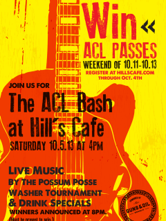 ACL Bash at Hill's Cafe