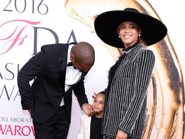 Jay Z, Blue Ivy and Beyonce at CFDA Awards