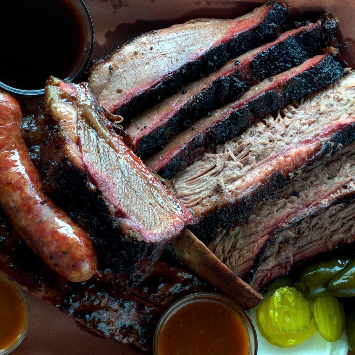 Houston, Killen's BBQ, June 2015, BBQ plate
