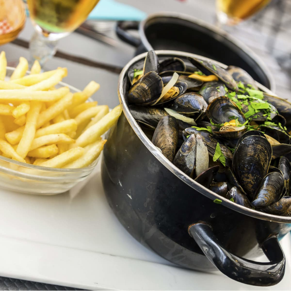 Mussels and frites (fries)