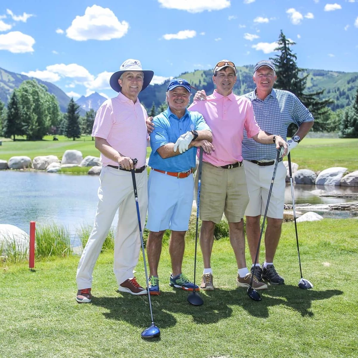 Houston Methodist in Aspen, July 2016,  Tom Elsenbrook, David Dominy, Les Csorba, Todd Brock