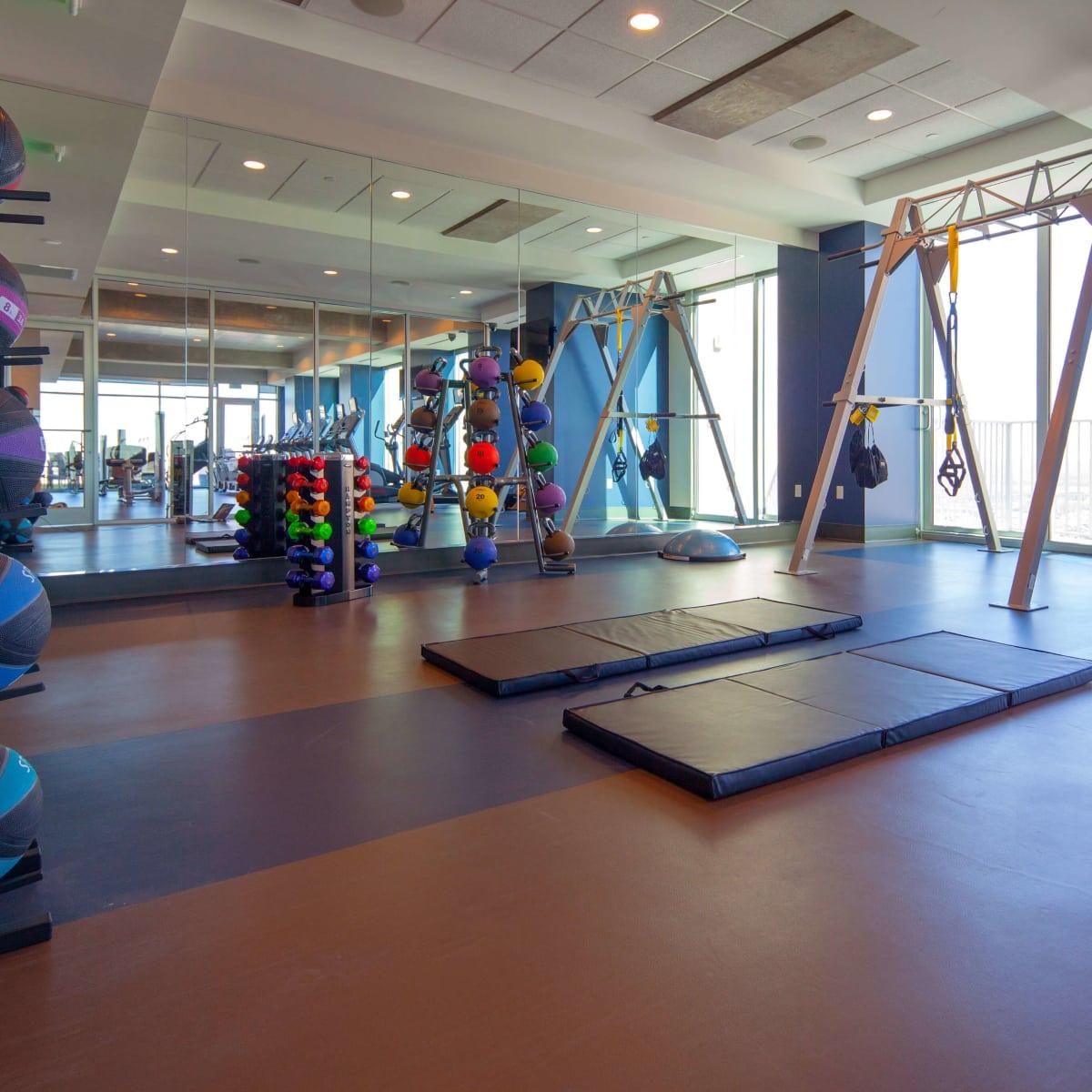 Skyhouse Dallas fitness room