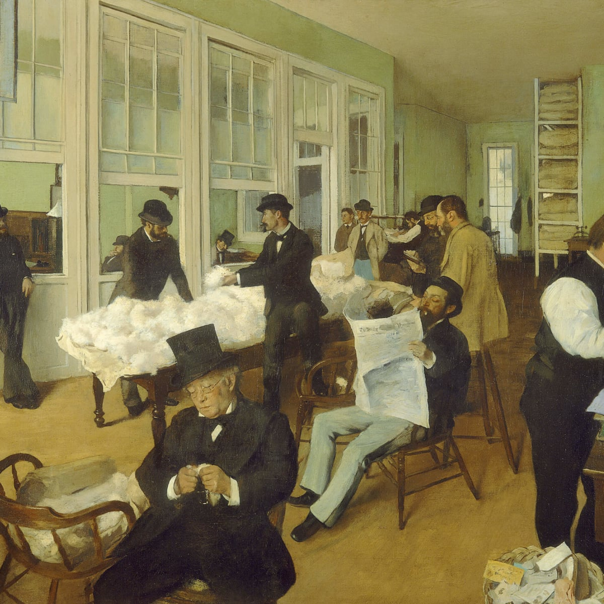 Edgar Degas, A Cotton Office in New Orleans, 1873, oil on canvas, Musée des Beaux-Arts de Pau, France