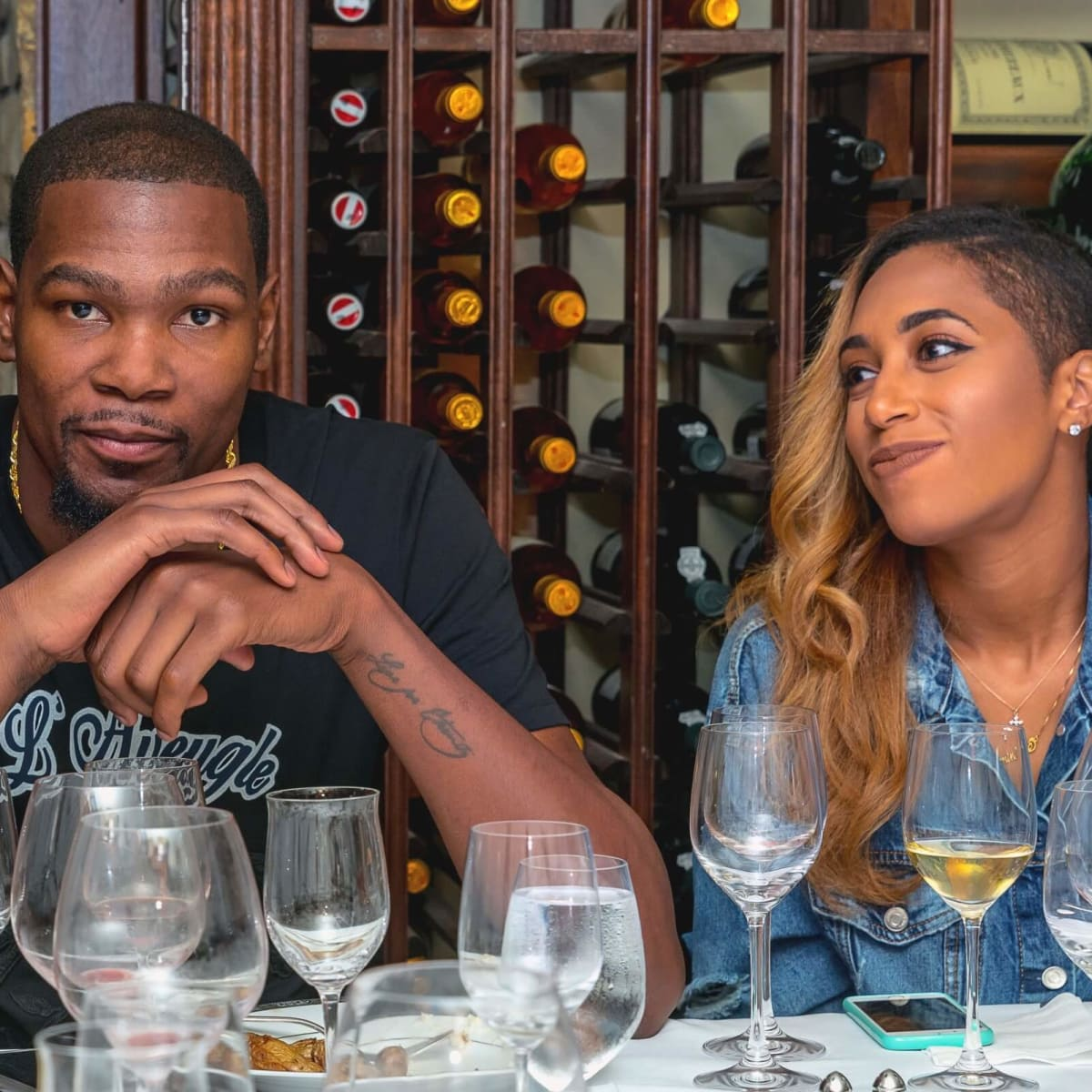 Olympic Basketball party 7/16, Kevin Durant and girlfriend