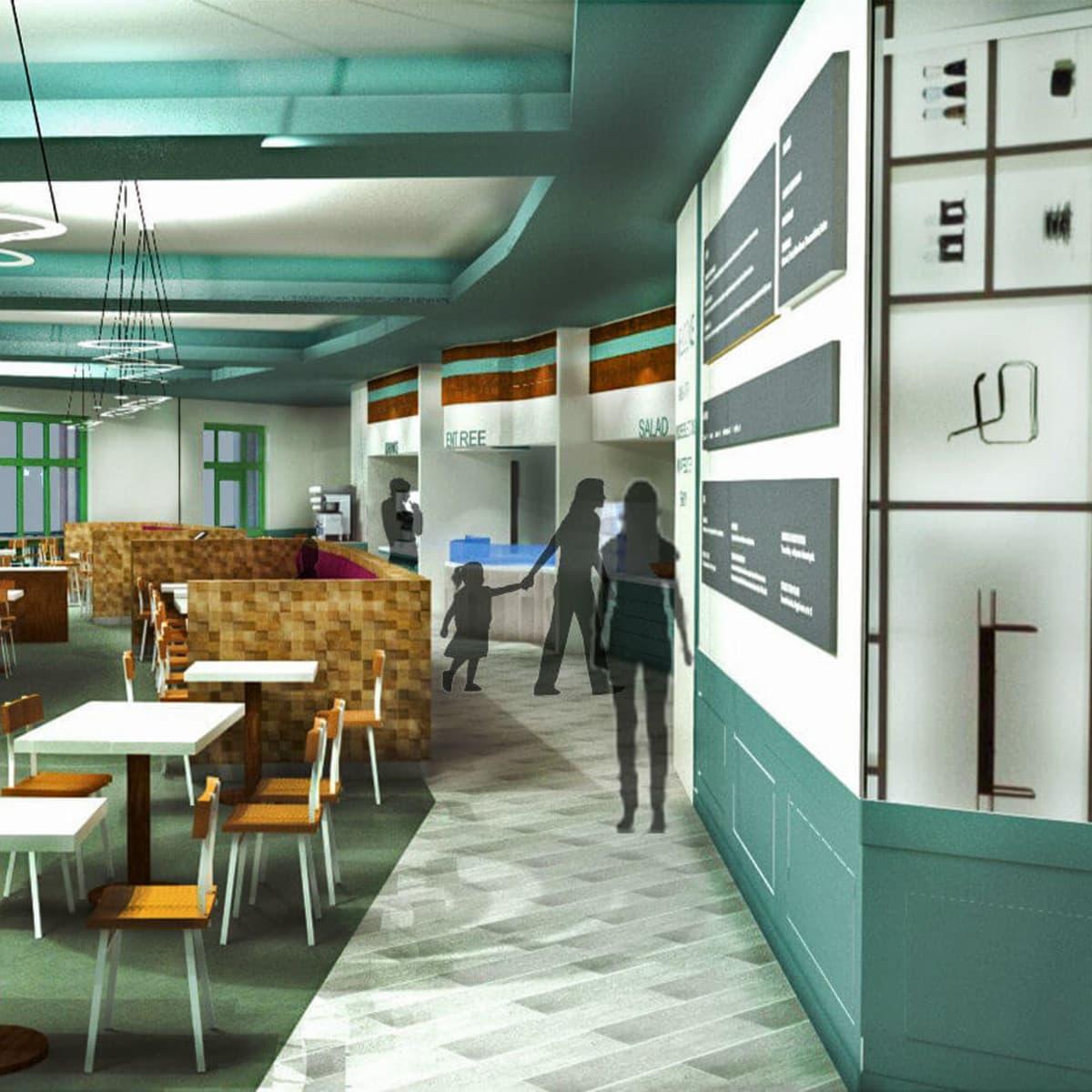 Bullock Texas State History Museum cafe restaurant rendering