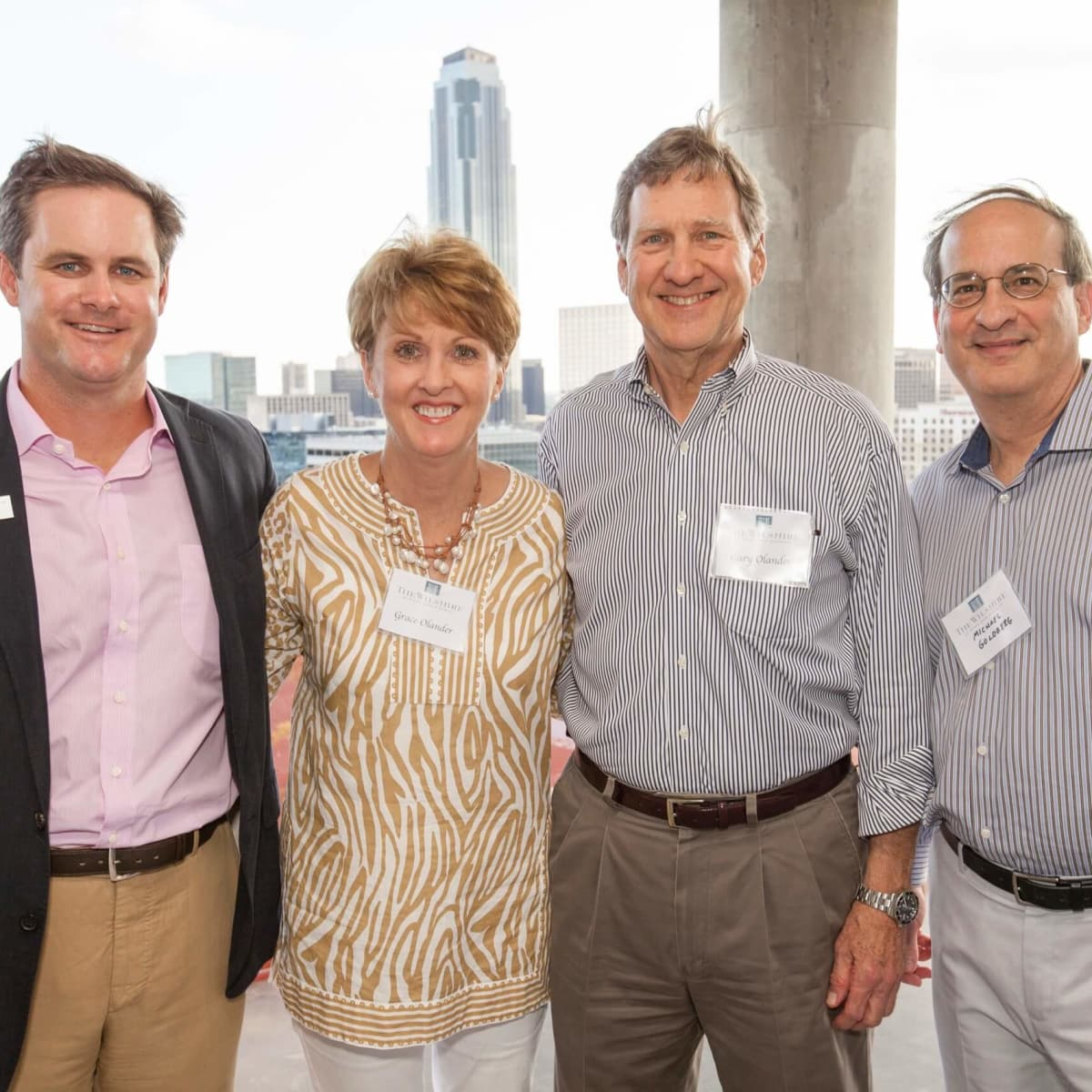 Wilshire Topping Out, July 2016, Derek Darnell, Grace Olander, Gary Olander, Michael Goldberg