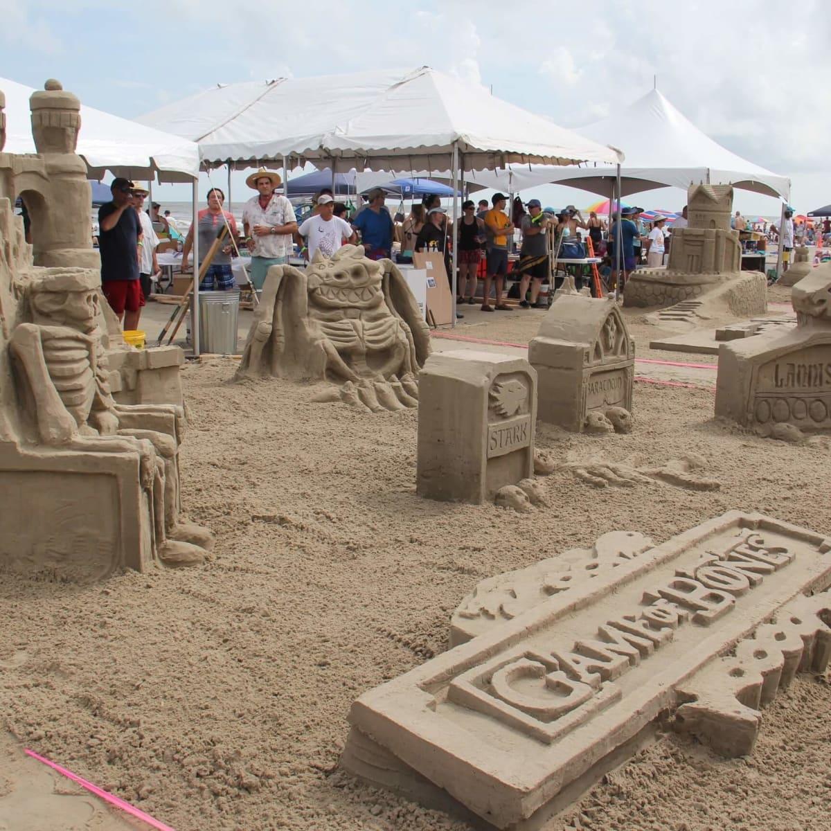 AIA Sandcastle contest, Galveston, 8/16