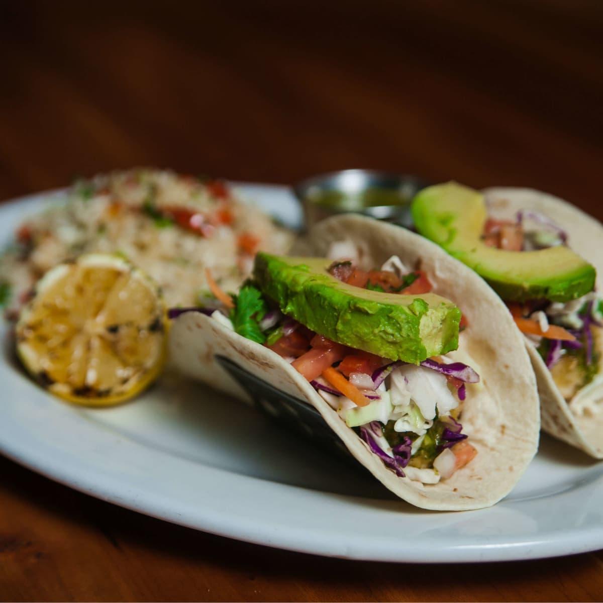 Mahi mahi tacos at Cover 3