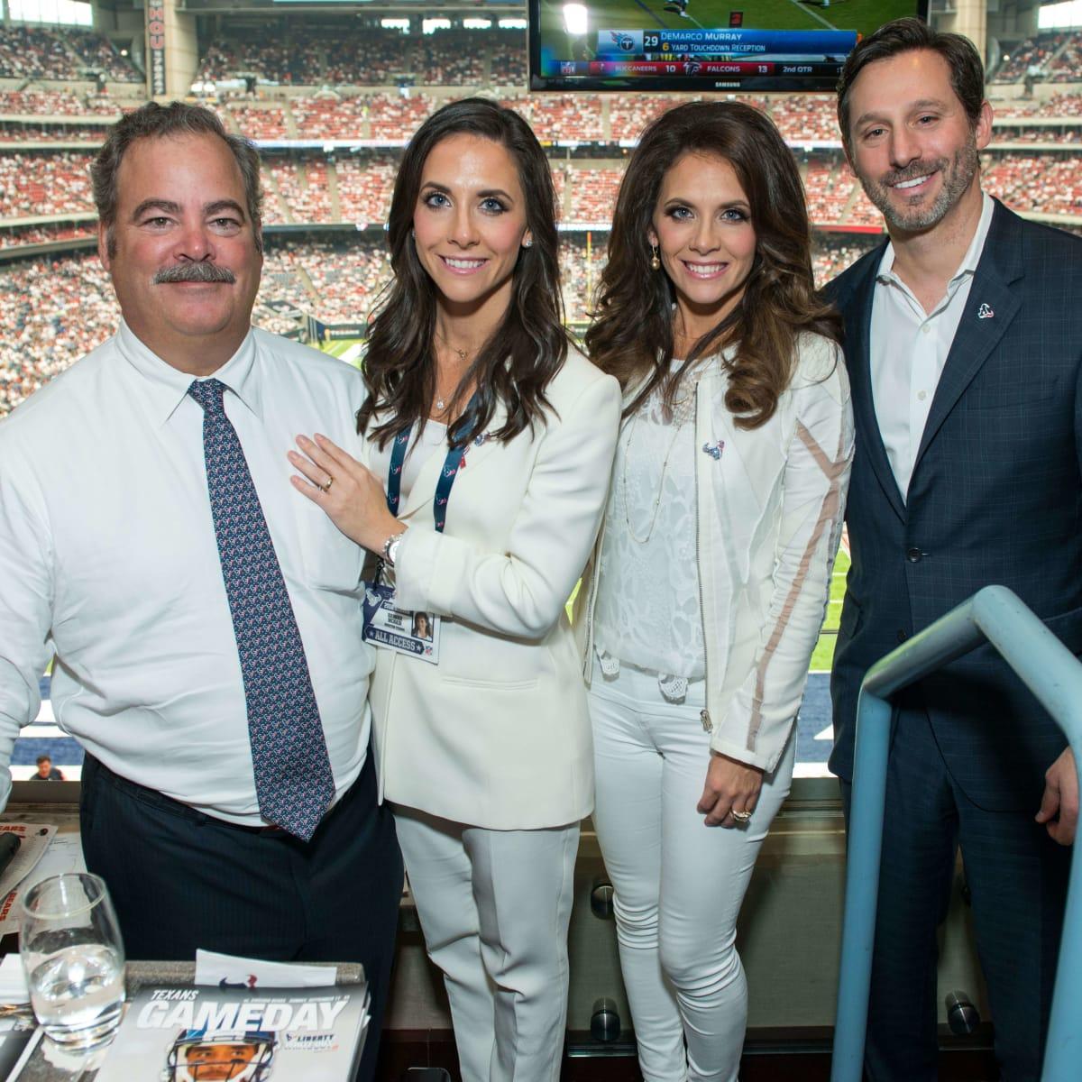 Houston Texans season opener, 9.16, Cal and Hannah Mcnair, Joanna and Brad Marks