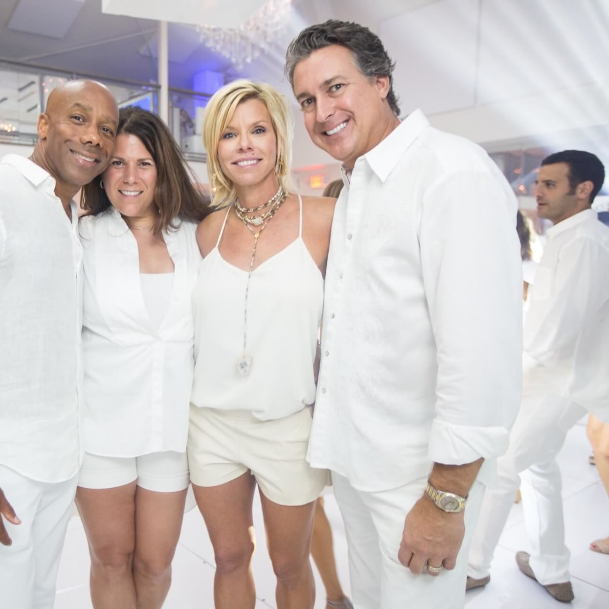 Loya Texans White Out party, 9/16 Sean Wright, Shelley Wright, Mary Alice Haest, Barry Haest