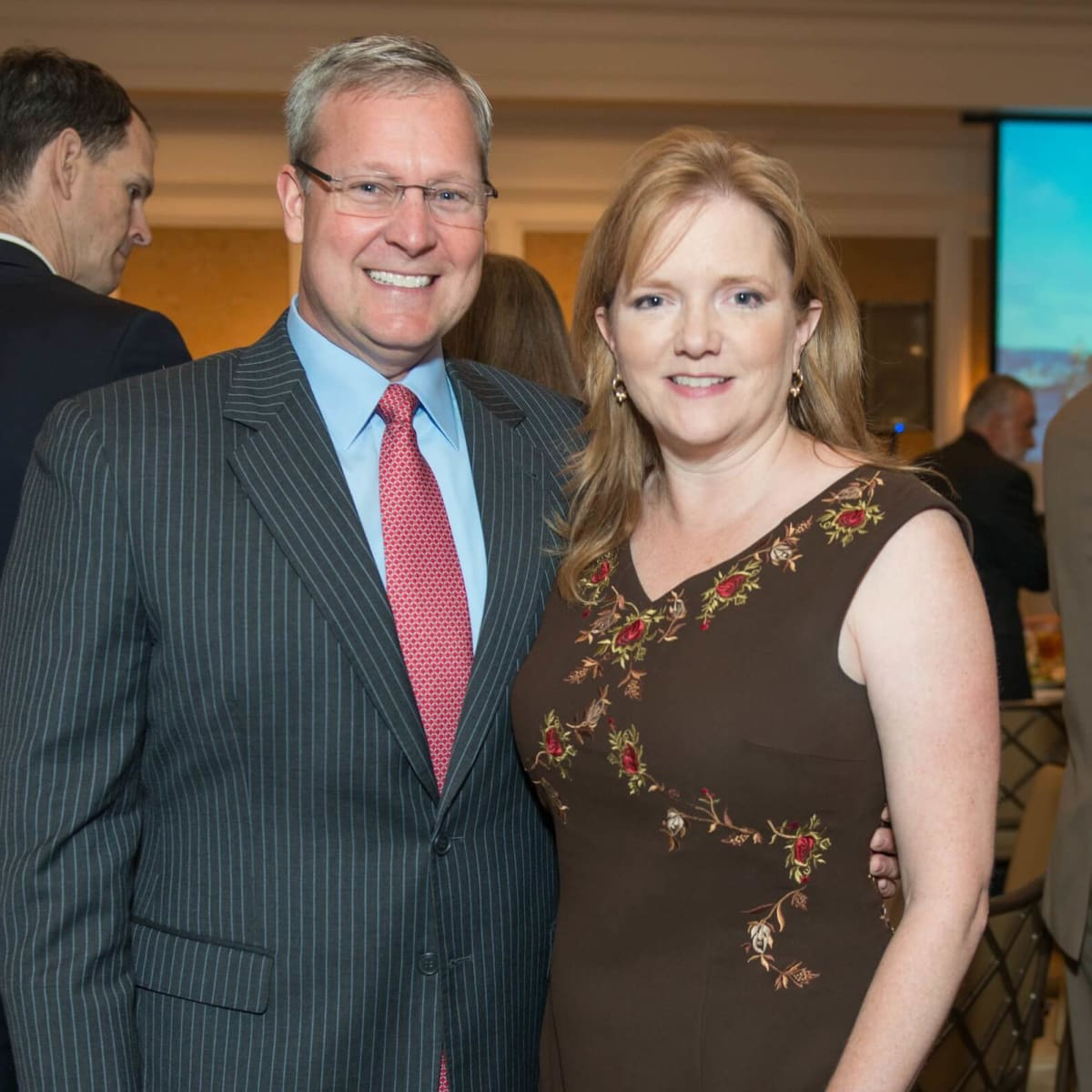 Mission to Mars luncheon 9/16, Larry Lawyer, Alicia Lawyer