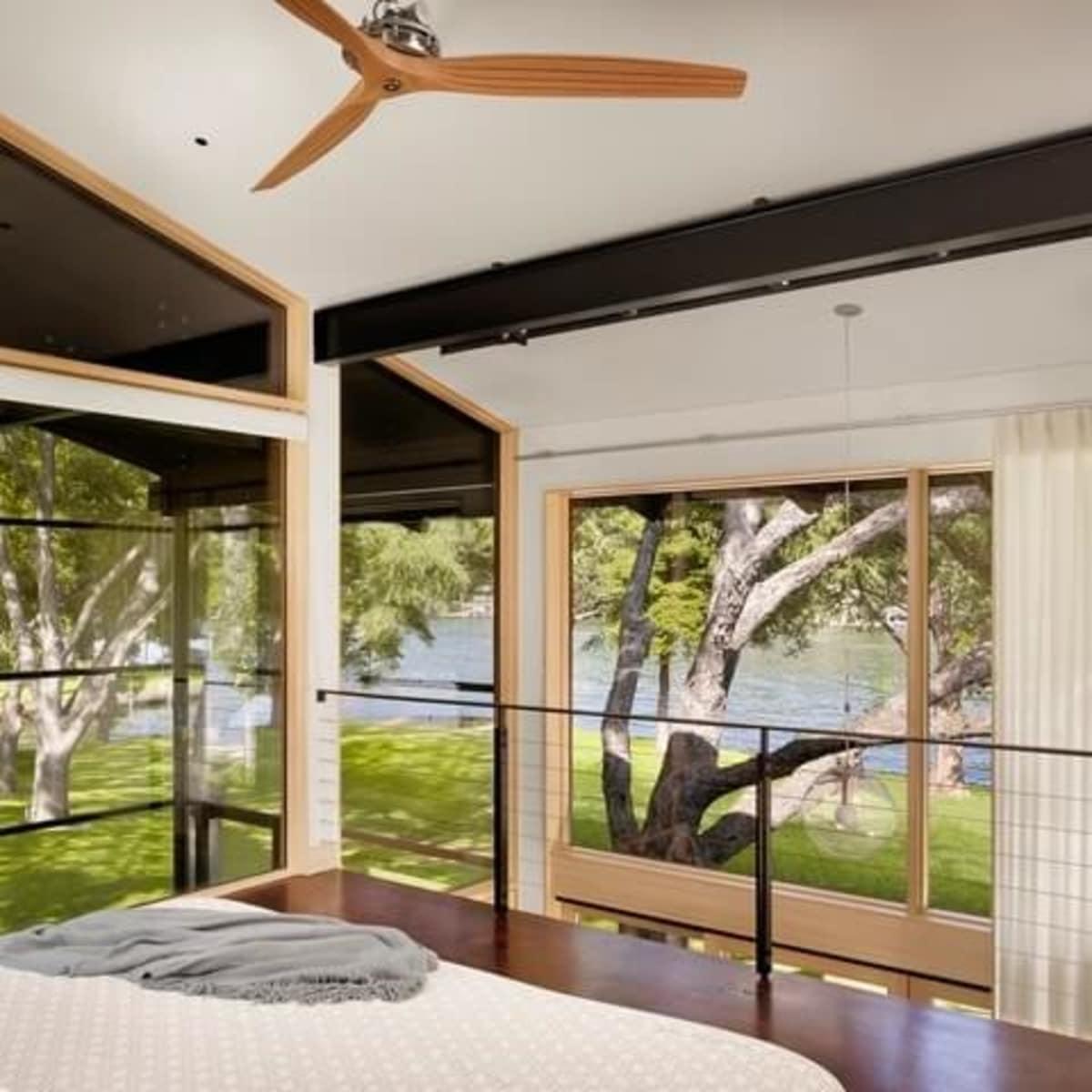 Austin house home Houzz modern Lake Austin bedroom