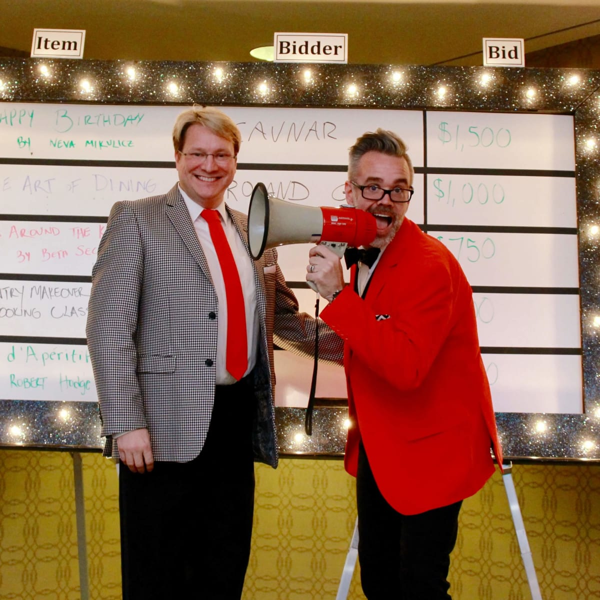 Matt Burrus and Michael Pearce at Recipe for Success Gala