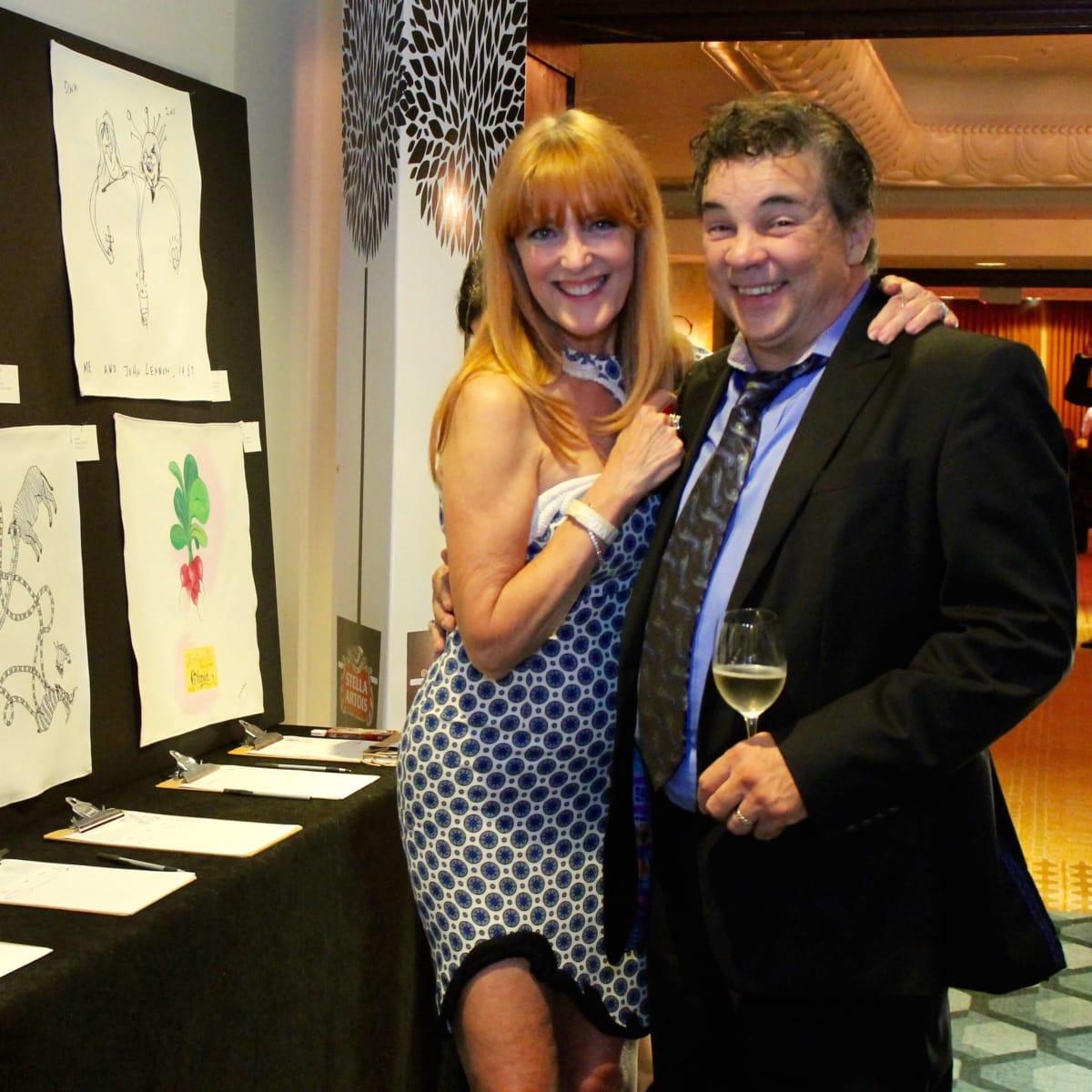 Gracie Cavnar and Peter Garcia at Recipe for Success gala