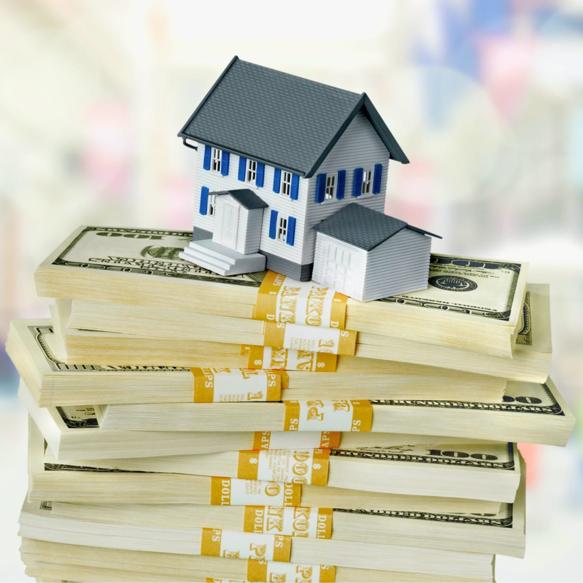 House on top of money