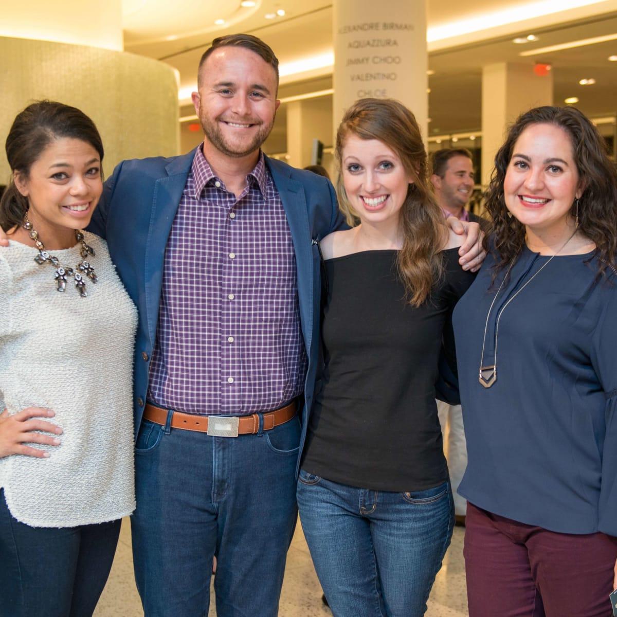 Bahiyyih Autry, Cooper Gouge, Maggie Gomez, Mallary Lattanze at CultureMap Houston Social Top Texans