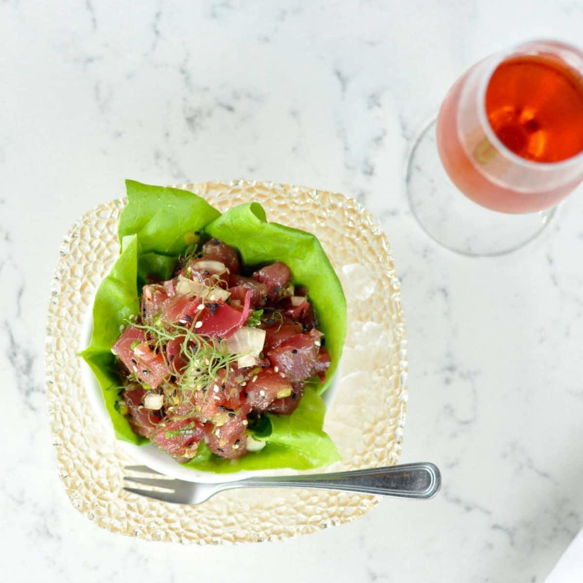 Mongers Market poke lettuce