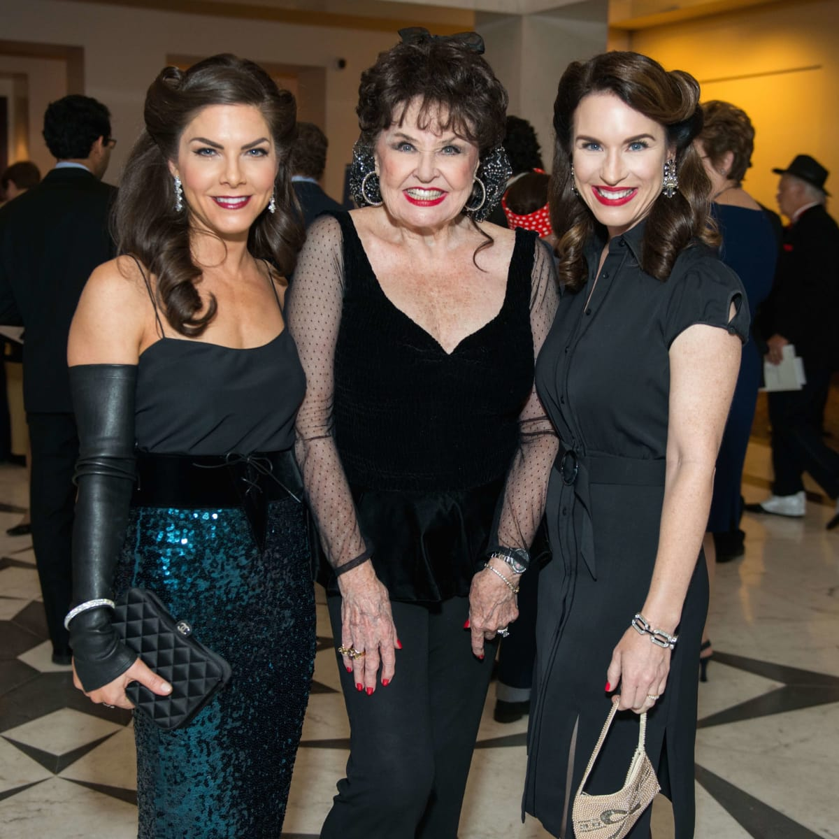 Monica Hartland Blaisdell, Warner Roberts, Samantha Kennedy at Mission of Yahweh gala